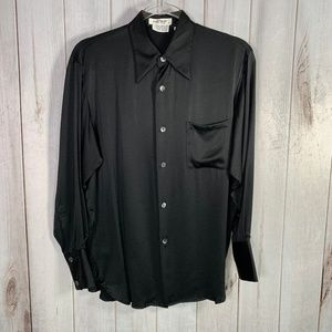 Equipment Black Silk Button Front Shirt